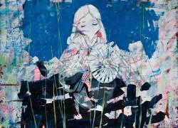 大槻香奈「かたく透明の」2017年 333×455mm  ケント紙・アクリル・鉛筆・ペン